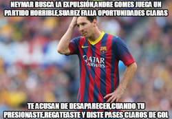 Enlace a Críticas muy injustas para Messi