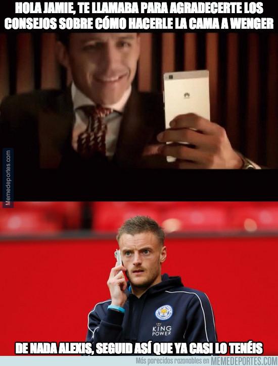 966208 - La llamada entre Vardy y Alexis que demuestra por qué el Arsenal va como va