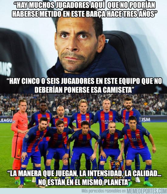 """966612 - """"Algunos no deberían ponerse la camiseta del Barça"""""""
