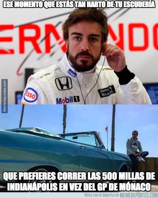 966623 - Fernando Alonso está hasta el rabo de Honda McLaren y les ha metido este plantón épico