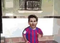 Enlace a GIF: Messi al ver que ya no estará Bauza y puede elegir otro técnico
