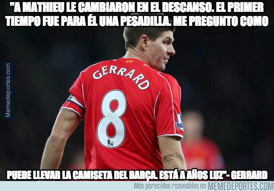 967214 - Las declaraciones de Gerrard contra Mathieu