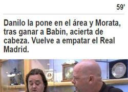 Enlace a Cuando Danilo asiste y Morata no está en fuera de juego