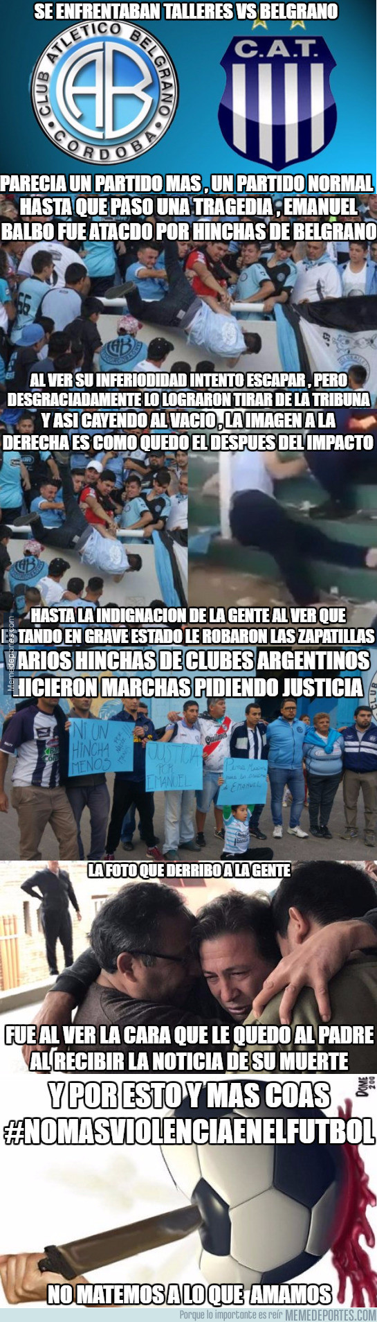 968025 - No más violencia en el fútbol, no matemos a lo que amamos