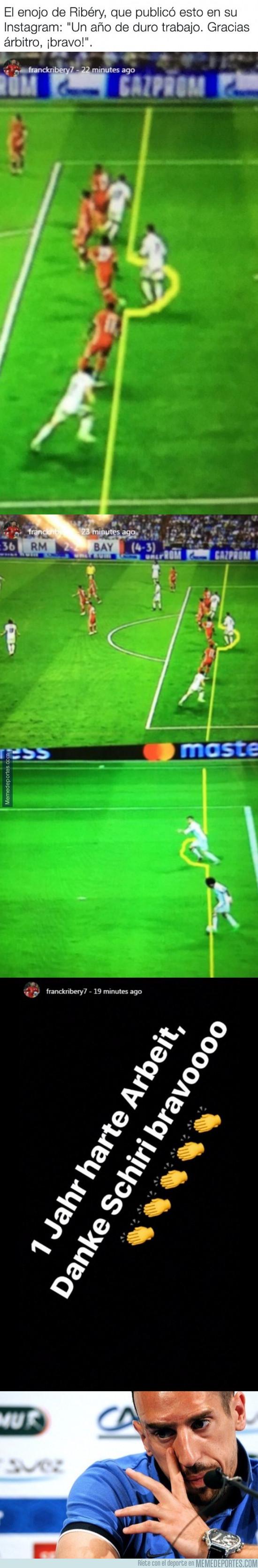 968614 - Ribery se despacha a gusto rajando del árbitro en Instagram