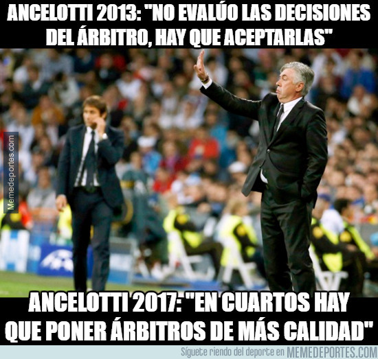 968639 - El doble rasero de Ancelotti hablando de los árbitros