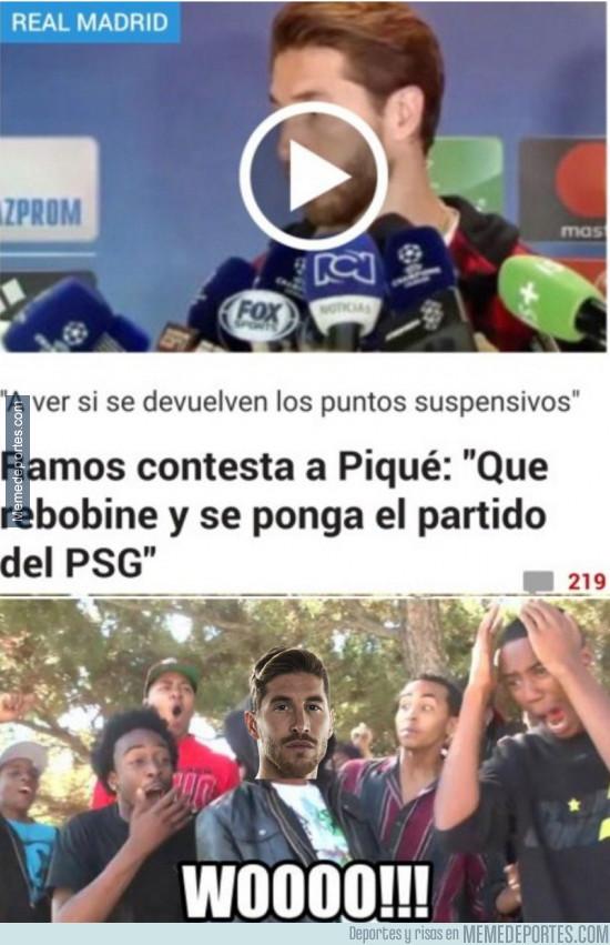968656 - Ramos contesta a Piqué tras su tweet