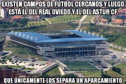 Enlace a Increible cercanía entre los campos del Real Oviedo y del Astur CF