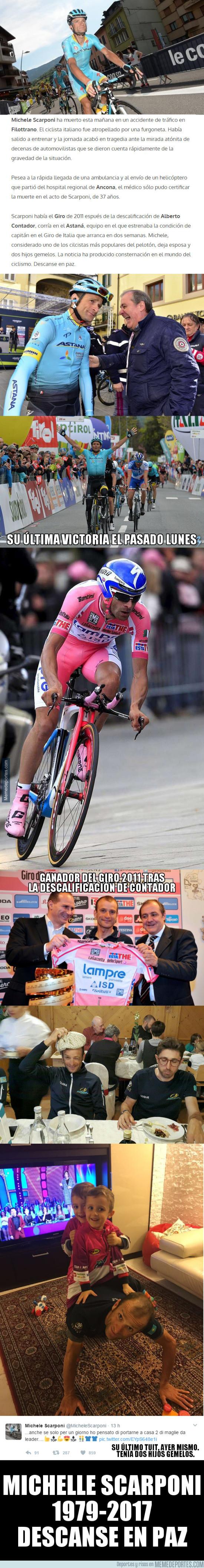 969628 - Fallece Michelle Scarponi, campeón del Giro 2011, mientras entrenadaba