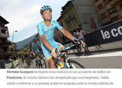 Enlace a Fallece Michelle Scarponi, campeón del Giro 2011, mientras entrenadaba