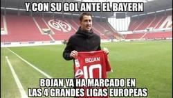 Enlace a Bojan entró en la historia con su gol al Bayern