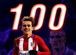 Enlace a Griezmann llega a los 100 goles en La Liga