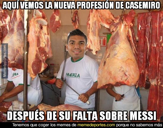 969995 - A Casemiro se le cruzaron los cables ante Messi