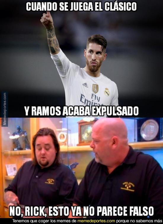 970167 - Sergio Ramos vuelve a ser expulsado en un Clásico