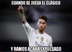 Enlace a Sergio Ramos vuelve a ser expulsado en un Clásico