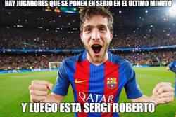 Enlace a Tremenda carrera de Sergi Roberto, nunca perdiendo la esperanza como ante el PSG