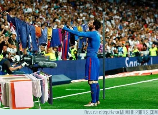 970497 - Messi tendiendo la ropa es lo mejor que vas a ver hoy, por @gazpachoblog