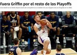 Enlace a Blake Griffin lesionado en los Playoffs