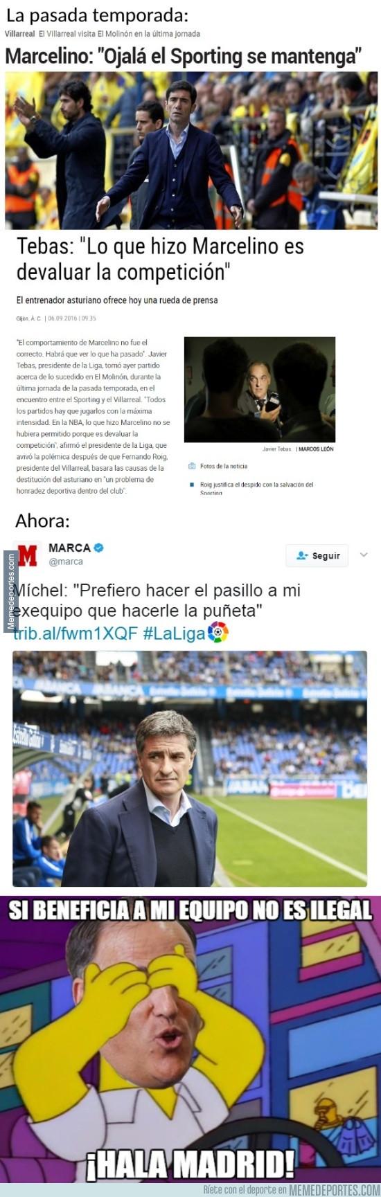 971057 - ¿Si Míchel hace lo mismo contra el Madrid Tebas le dirá algo?