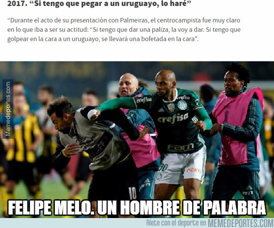 971601 - Felipe Melo no miente si dice algo