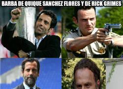 Enlace a Barba de Quique Sanchez Flores y de Rick Grimes