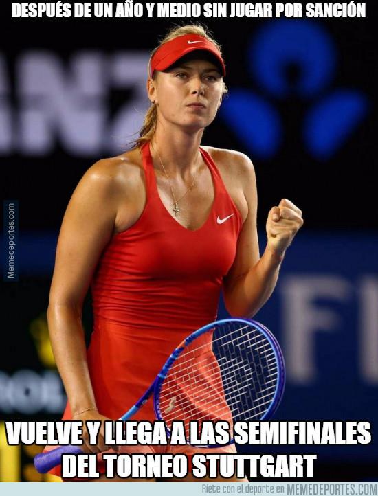 972381 - Después de un año y medio sin jugar por sanción, vuelve Sharapova