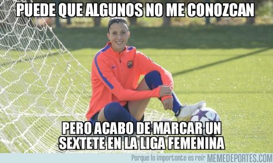972540 - Jennifer Hermoso marcó 6 goles en la victoria del Barça Femenino