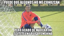 Enlace a Jennifer Hermoso marcó 6 goles en la victoria del Barça Femenino