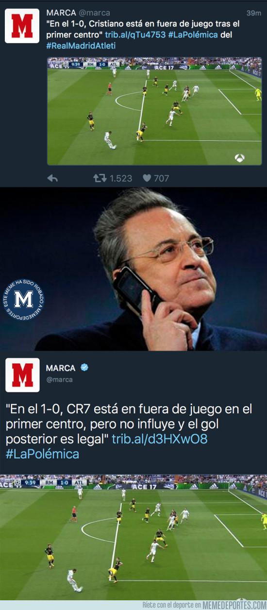 972706 - Florentino tras ver el primer tuit del MARCA