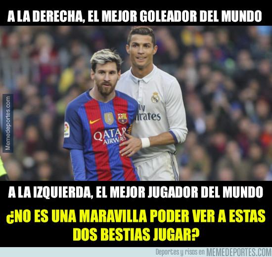 972891 - A la derecha el mejor goleador del mundo, a la izquierda...