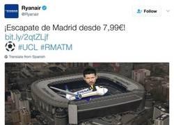 Enlace a RYAN AIR se ríe en la cara de Simeone y de todos los atléticos con este tweet