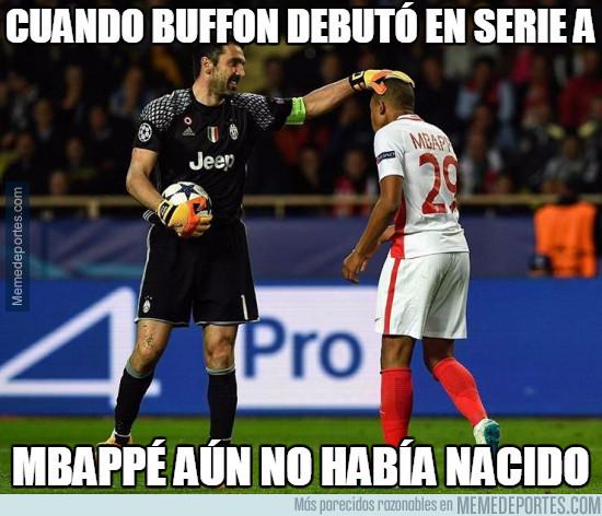973119 - Histórico encuentro entre Buffon y Mbappé