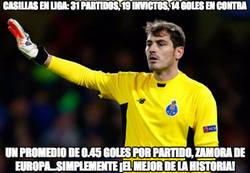 Enlace a Tremendo dato de Casillas