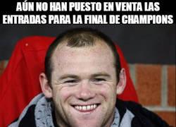 Enlace a Rooney siempre tiene suerte