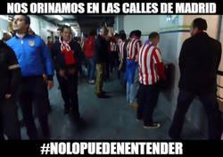 Enlace a Poco respeto de los colchoneros en Madrid...
