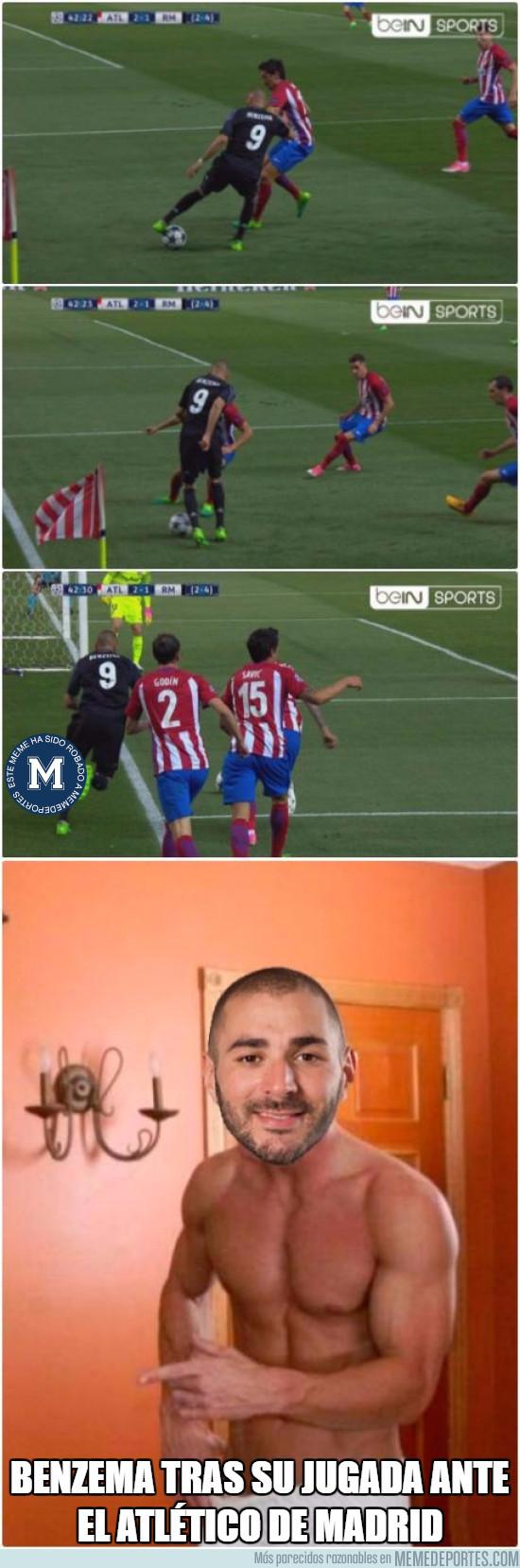 974304 - Benzema tras el gol en el Calderón