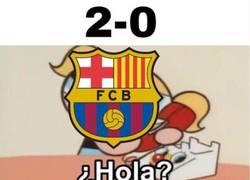 Enlace a Culés viendo el partido del Atleti frente al Real Madrid