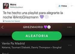 Enlace a La canción dedicada a Griezmann de parte de los madridistas
