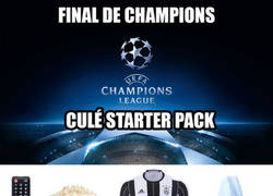 Enlace a Final de Champions: Culé Starter Pack