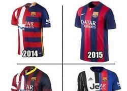 Enlace a Últimas camisetas del Barça en las últimas finales de Champions