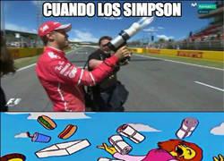 Enlace a Vettel divirtiéndose en Montmeló