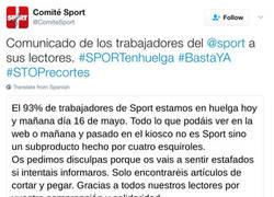 Enlace a Trabajadores de Sport publican comunicado de huelga en Twitter y reciben un combo de zascas