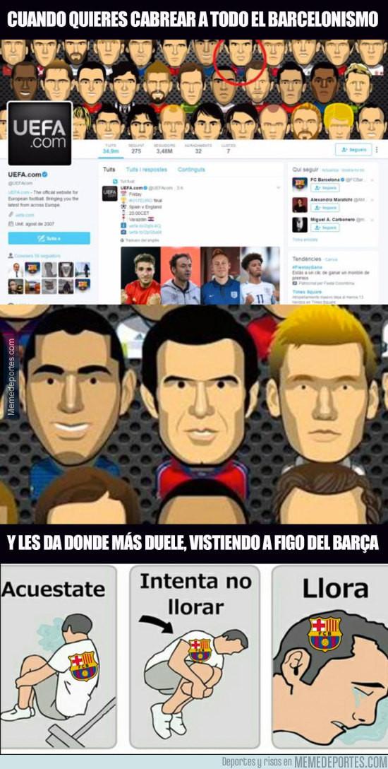 976198 - La UEFA putea al Barcelona en su cuenta oficial de Twitter