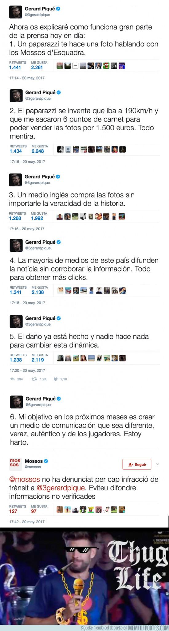 976429 - Gerard Piqué estalla en Twitter tras difundirse informaciones falsas sobre su vida