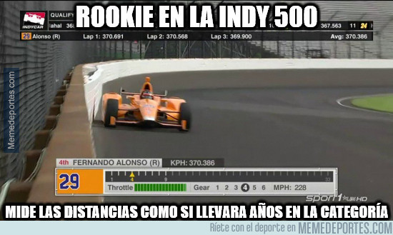 976497 - ¡BRUTAL FERNANDO ALONSO EN LA INDY500!