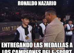 Enlace a Ronaldo Nazario en los e-Sports