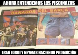Enlace a Jordi Alba y Neymar haciendo promoción