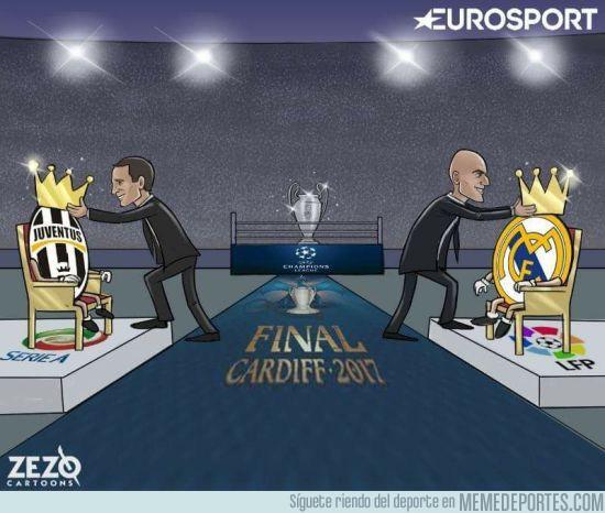 977301 - Allegri y Zidane se preparan para la Champions, por Zezo Cartoons