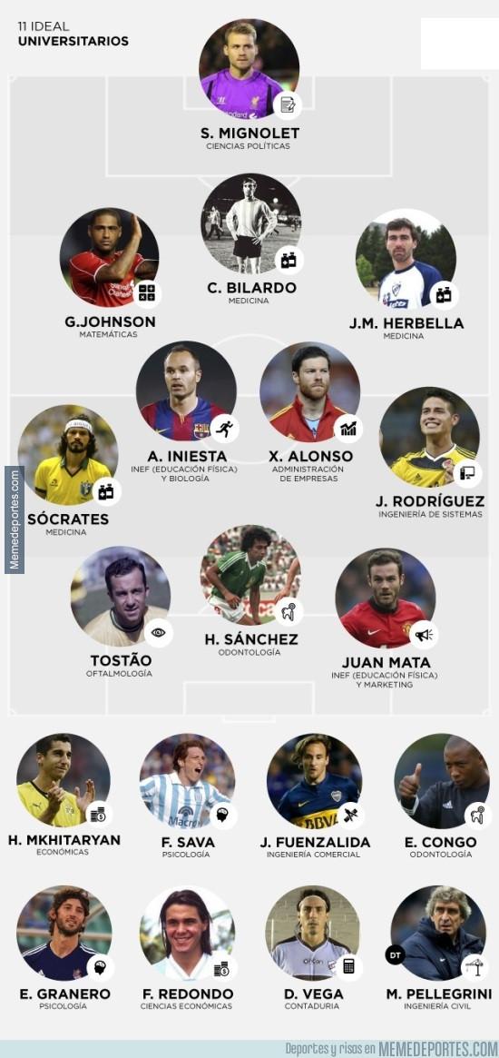 977393 - 11 ideal de futbolistas con carrera universitaria