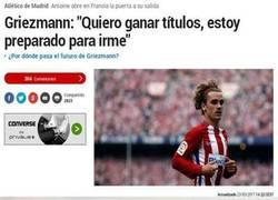 Enlace a Duras palabras de Griezmann hacia el Atlético